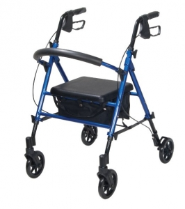 drive adjustable rollator blue
